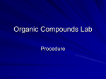 Organic Compounds Lab