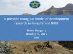 A possible triangular model of development research in Forestry and