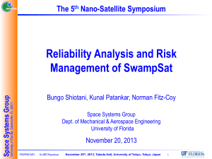 Reliability Analysis and Risk Management of SwampSat