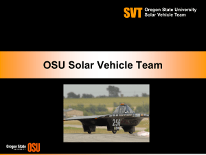 Solar Powered Cars - Classes