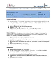 Job Description - Child Care Associates
