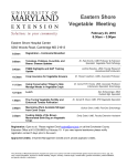 Agenda - University of Maryland Extension