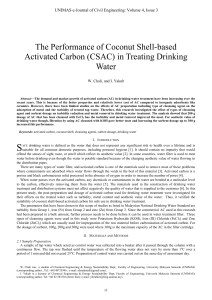 The Performance of Coconut Shell-based Activated Carbon