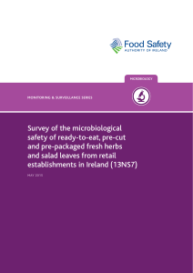 Survey of the microbiological safety of ready-to-eat, pre