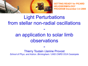 Light perturbation from stellar non radial oscillations: an application