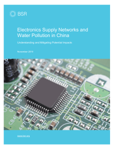 Electronics Supply Networks and Water Pollution in China