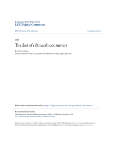 The diet of saltmarsh consumers - LSU Digital Commons