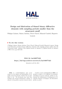 Design and fabrication of blazed binary diffractive - HAL