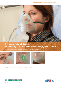 Intersurgical EcoLite™ adult high concentration oxygen mask