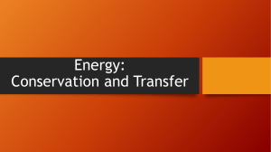 Energy: Conservation and Transfer