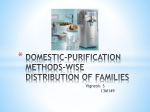domestic-purification methods-wise distribution of families