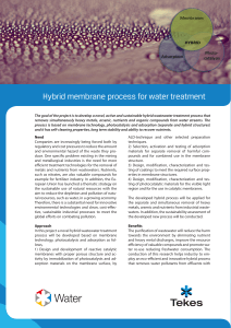 Hybrid membrane process for water treatment
