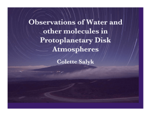 Observations of Water and other molecules in Protoplanetary Disk