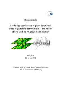 Modelling coexistence of plant functional types in grassland