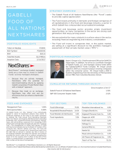 gabelli food of all nations nextshares