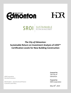 Sustainable Return on Investment Analysis of