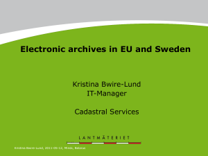 Electronic archives in EU and Sweden