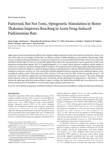 Patterned, But Not Tonic, Optogenetic Stimulation in Motor