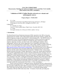 Validation of OMI L2 Sulfur Dioxide retrievals over volcanic