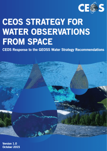 CEOS STRATEGY FOR WATER OBSERVATIONS FROM SPACE
