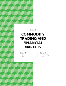 commodity trading and financial markets