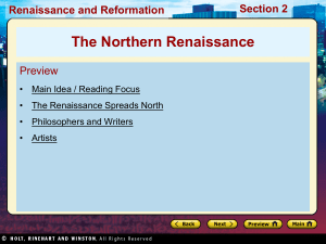 Renaissance and Reformation Section 2