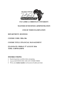 View/Open - Pan Africa Christian University