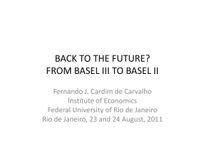 back to the future? basel iii and basel ii