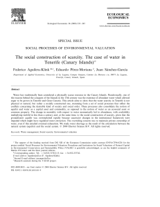 The social construction of scarcity. The case of water in