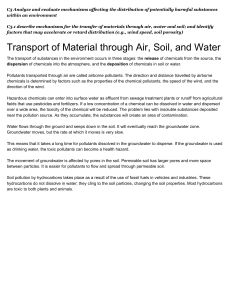 Transport of Material through Air, Soil, and Water