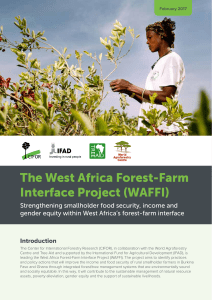 The West Africa Forest-Farm Interface Project (WAFFI)