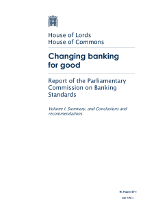 Parliamentary Commission on Banking Standards