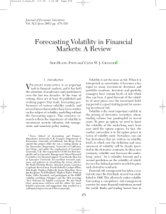 Forecasting Volatility in Financial Markets: A Review
