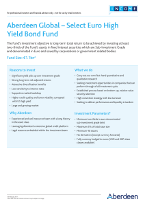 Aberdeen Global – Select Euro High Yield Bond Fund