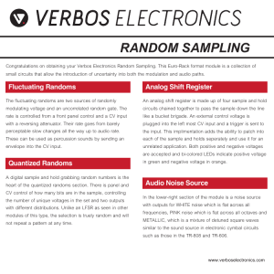 random sampling - Verbos Electronics