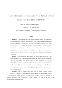 The performance of estimators of the bid-ask