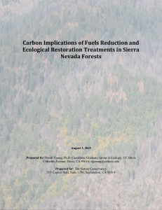 Carbon Implications of Fuels Reduction and Ecological Restoration