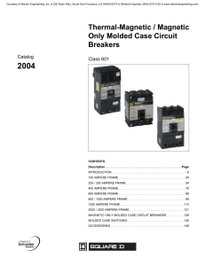 Thermal-Magnetic / Magnetic Only Molded Case Circuit Breakers