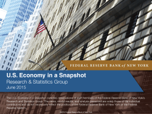 US Economy in a Snapshot - Federal Reserve Bank of New York
