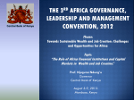 africa governance conference 2012