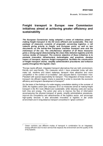 Freight transport in Europe: new Commission initiatives
