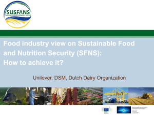 Food industry view on Sustainable Food and Nutrition Security