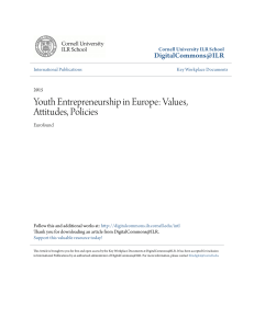 Youth Entrepreneurship in Europe: Values, Attitudes, Policies