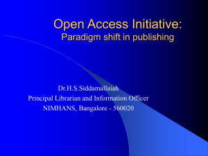 Open Access – A Paradigm Shift in Publishing Industry