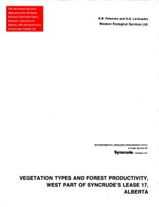 VEGETATION TYPES AND FOREST PRODUCTIVITY, WEST PART