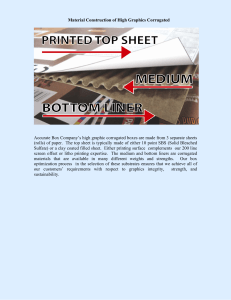 Material Construction of High Graphics Corrugated Accurate Box