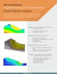 2-Dimensional and 3-Dimensional Slope Stability Analysis
