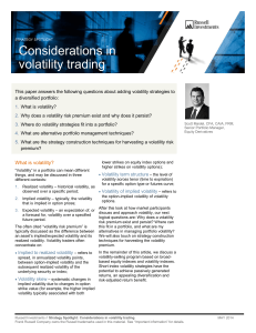 Strategy Spotlight: Considerations in volatility