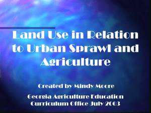 Population Growth Population Growth Urban Sprawl