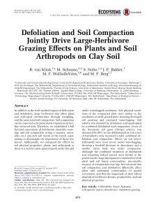 Defoliation and Soil Compaction Jointly Drive Large